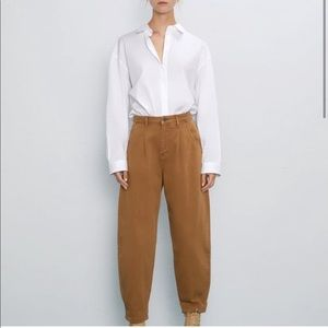 Zara Brown balloon style pants